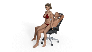 Armchair sex position