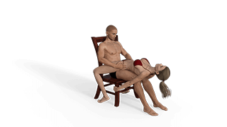 Reclined Lap Dance 180 Sex Position
