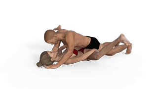 Split Missionary Sex Position