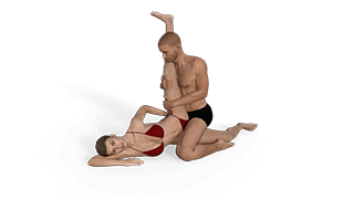 Scissored Flagpole Sex Position