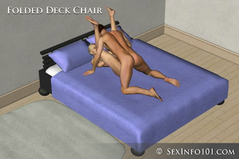 folded deck chair sex position