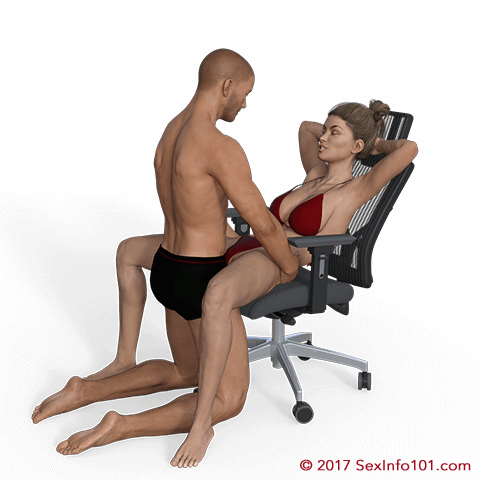 Butterfly style sex position