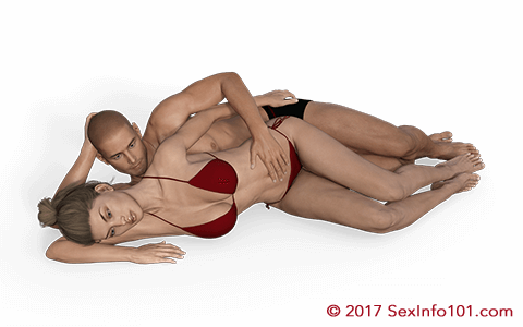 Top spoon sex position
